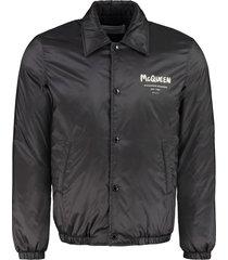 alexander mcqueen padded bomber jacket