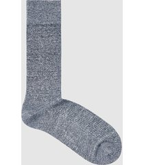 reiss timmy - ribbed socks in navy, mens
