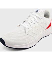 tenis running blanco-rojo adidas performance galaxy 5