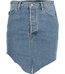 vetements vetements high-waisted asymmetric denim skirt