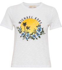 elv sunset graphic t t-shirts & tops short-sleeved wit michael kors