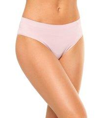 calcinha liz cintura alta tato 70220 blush rosa