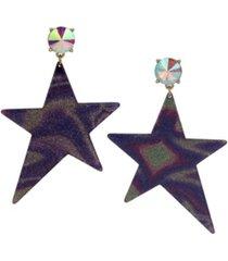betsey johnson celestial star galaxy statement earrings