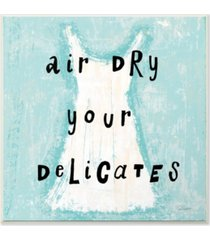 """stupell industries air dry your delicates dress wall plaque art, 12"""" x 12"""""""