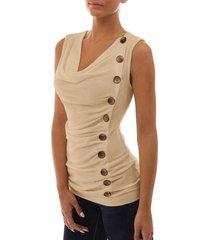 camiseta de verano con tops mujer cuello en v sin mangas top
