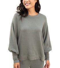 splendid flora flounce pullover sweatshirt