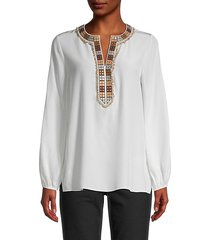 chevy embellished silk blouse