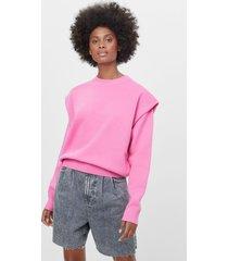 trui van fijne tricot met blote schouders