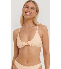 na-kd swimwear tied front bikini top - orange