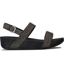 womens lottie glitter stripe back strap sandals