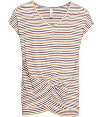 maglia a righe con nodo (giallo) - rainbow