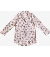 disney marie notched collar button down women's sleep shirt