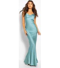 cowl neck maxi slip dress, mint