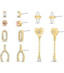 6-on post earrings set