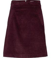 angela cord skirt kort kjol lila twist & tango