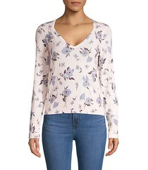 daniella floral wool & cashmere blend pullover