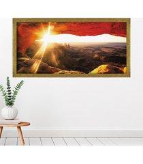 tela com moldura slim mesa arch 60x130cm dourado