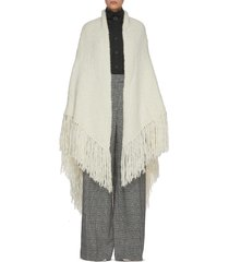 lauren' fringe cashmere wrap scarf