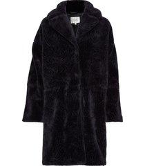 myra coat outerwear faux fur svart second female