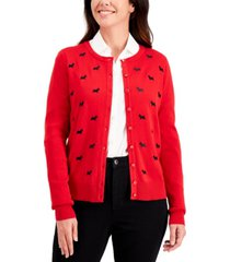 charter club scottie button sweater, regular & petite sizes, created for macy's