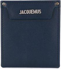jacquemus removable pocket pouch - blue
