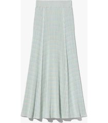 geo rib knit skirt