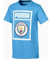man city schoenlabel-t-shirt, blauw/wit/aucun, maat 116 | puma