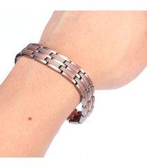 braccialetto magnetico dell'acciaio inossidabile del braccialetto magnetico di rame del braccialetto d'avanguardia di modo