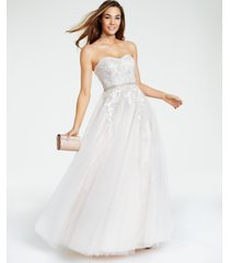 say yes to the prom juniors' embellished embroidered ball gown, created for macy's