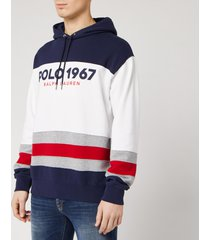 polo ralph lauren men's 1967 logo pop over hoodie - white/multi - xxl