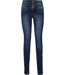 figurformande stretchjeans mage-ben-rumpa, smal passform