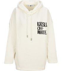 off-white off white signature katsu oversized hooded sweatshirt