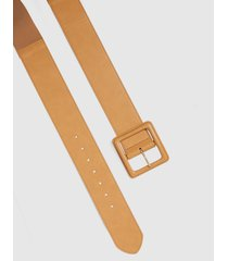 lane bryant women's tan wide stretch belt with square buckle 26/28 palomino tan