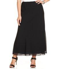 msk plus size chiffon maxi skirt