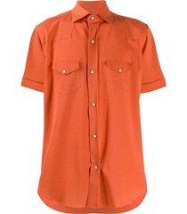 eleventy texas buttoned shirt - orange