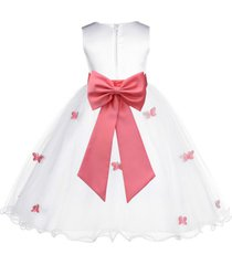 (updated) butterflies tulle flower girl dress pageant wedding bridesmaid 509t
