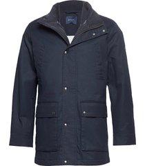 d1. the double decker parka jas blauw gant
