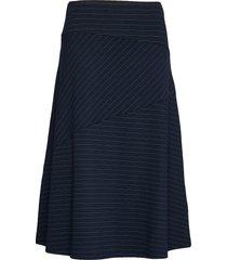 skirts knitted knälång kjol blå esprit collection