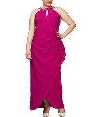 sl fashions plus size embellish halter gown