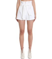 iro epinac shorts in white viscose