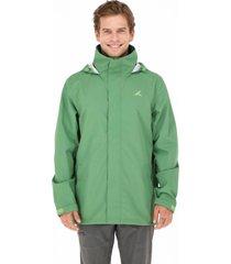chaqueta carelmapu impermeable verde andesgear