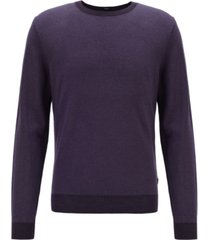 boss men's bassari regular-fit melange sweater