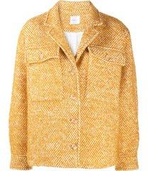 anine bing leon oversized jacket - yellow