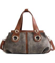 borsa a doppio strato borsa di cuoio dell'unità di elaborazione di svago delle donne