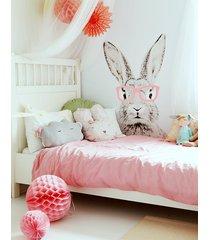 królik w różowych okularach naklejka 120cm