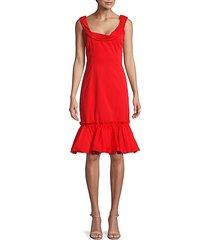 cowlneck cotton sheath dress