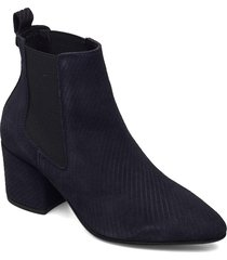 biacia suede chelsea boot wf shoes boots ankle boots ankle boot - heel blå bianco