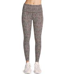 monrow women's luna leopard print leggings - classic leopard - size s