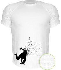 camiseta manga curta nerderia dance branco - branco - masculino - dafiti