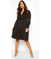 maternity occasion smock dress, black